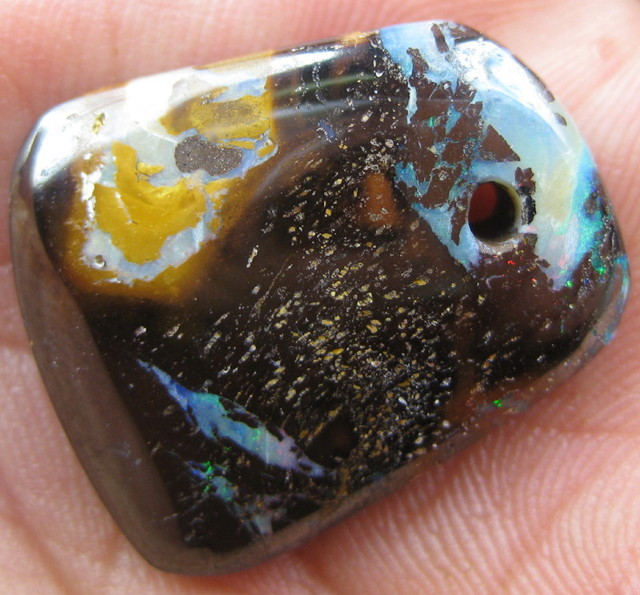 COLOURMINE OPALS>30.50cts DRILLED BOULDER MATRIX OPAL