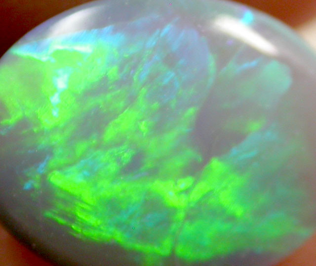 1.15 CTS BRIGHT GREEN OLIVE FLASH  RIDGE  OPAL    PL26