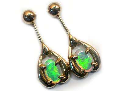 CRYSTAL OPAL SWING GOLD EARRING SCO532