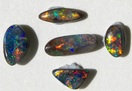*buy a bargain* BOULDER OPAL SET - 5 STONES  3.25ct   p12-034cr