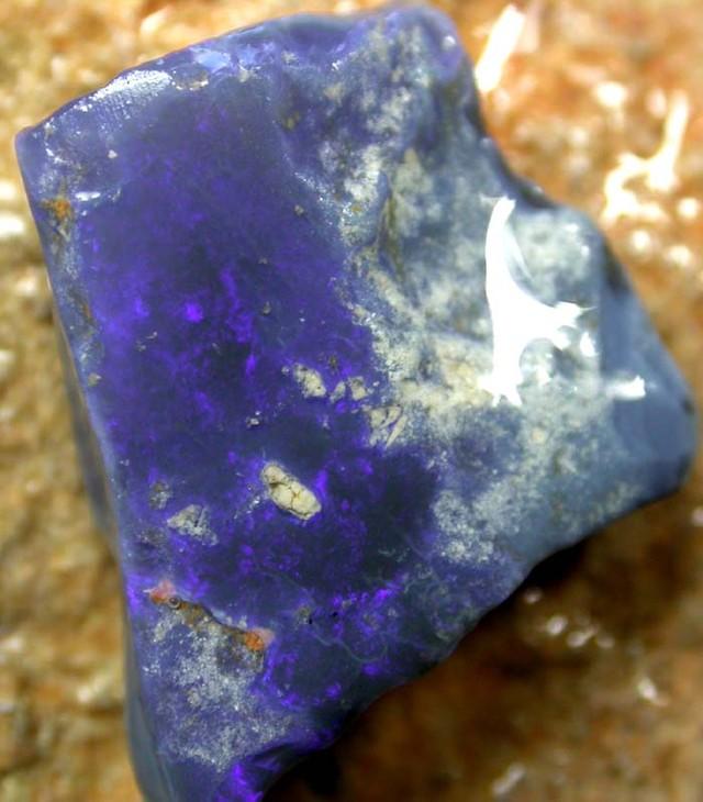 BLACK OPAL RUB  BLUE BY SEDA OPALS 11.90 CTS[FR183]