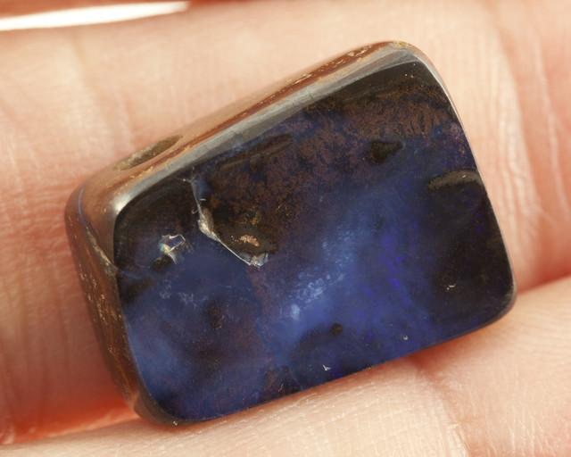 20ct Dark Blue Freeform Floral Boulder Opal (BO38)