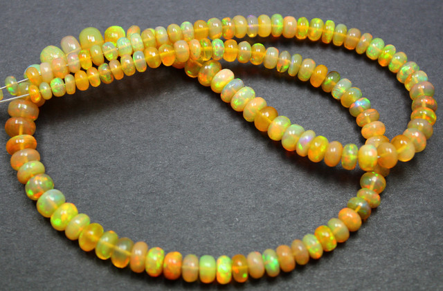 50 CTS ETHIOPIAN WELO 100% NATURAL OPALBEADS TOP COLORPLAY C317