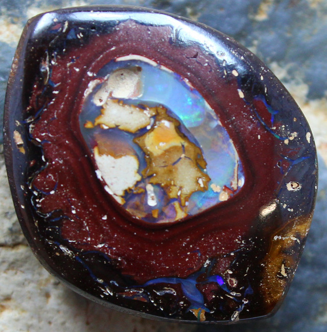 """32.20 CTS YOWAH OPAL """" CONGLOMERATE """" TOP POLISHED STONE C338"""