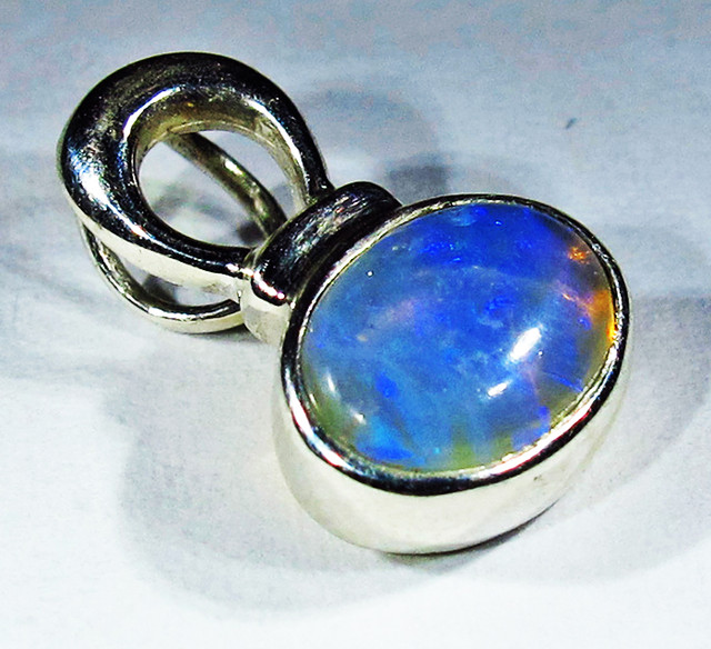 6.04 CTS SOLID OPAL PENDANT SILVER-FACTORY DIRECT  [SOJ2720]