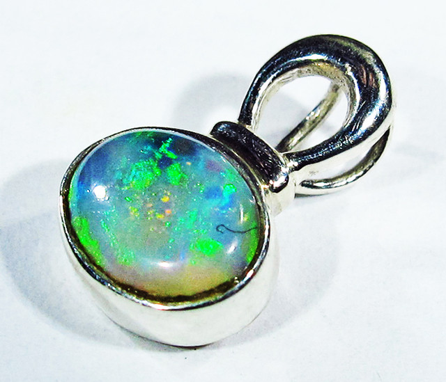 6.13 CTS SOLID OPAL PENDANT SILVER-FACTORY DIRECT  [SOJ2728]