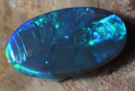 1.79 CTS BLACK OPAL CUT STONE L.RIDGE BK-83