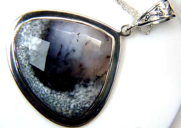 86 CTS DENDRITIC OPAL  PENDANT    OF-873