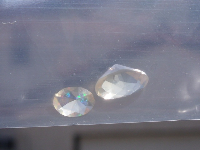 0.46 Cts. Lot (C-25) 2 pcs Faceted Fire Mexican Opal