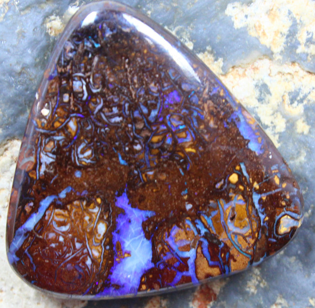 45.70CT YOWAH OPAL PENDANT STONE DRILLED TOP PICTURE PATTERN C962