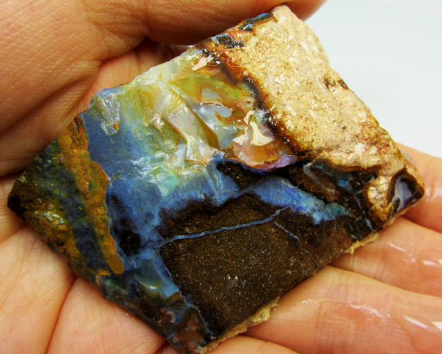 67GMS  OWN PART OF BOULDER HISTORY-ROUGH OPAL MMM 170