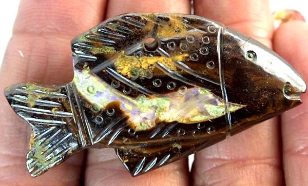 54.20  CTS BLACK OPAL CARVING LO-4613