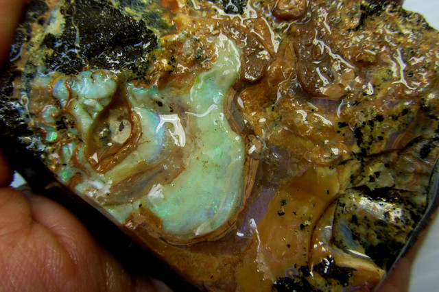 138GMS  OWN PART OF BOULDER HISTORY-ROUGH OPAL MMM 193