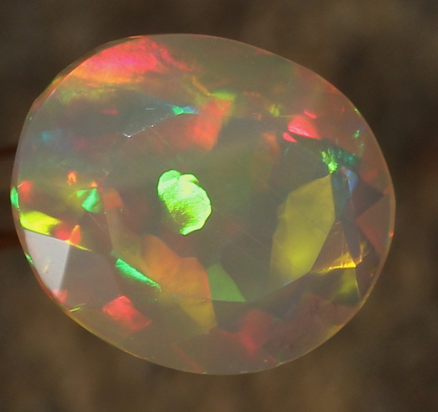 2.65ct. Faceted. Special Confetti Opal.