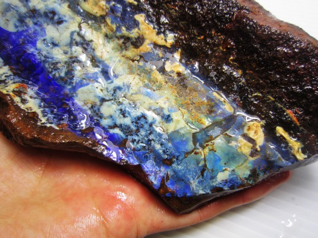 388GMS  OWN PART OF BOULDER HISTORY-ROUGH OPAL MMM 489