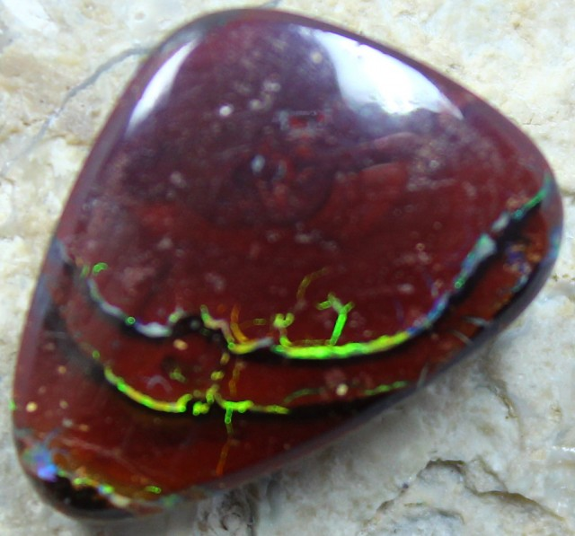 16.15 CT YOWAH OPAL GORGEOUS PATTERNS & COLORS IN THIS STONE C1979