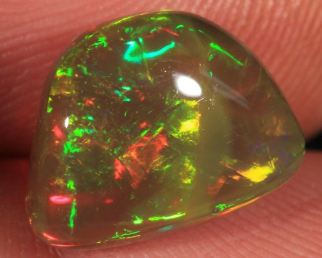 5.23CT EXTREMELY BRIGHT WELO OPAL FULL SATURATION 5/5 FIRE!!