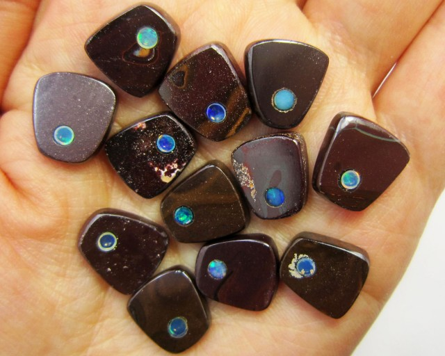 69 CTS PARCEL BOULDER  IRONSTONE OPAL WITH INLAY    MMM 762
