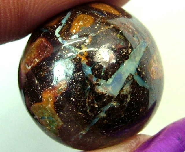 30.10 CTS BOULDER  OPAL BEAD  DRILLED PENDANT LO-83