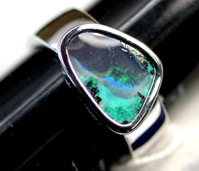 39.05 CTS BOULDER OPAL UNISEX RINGS   9.50   SIZE  OF-167