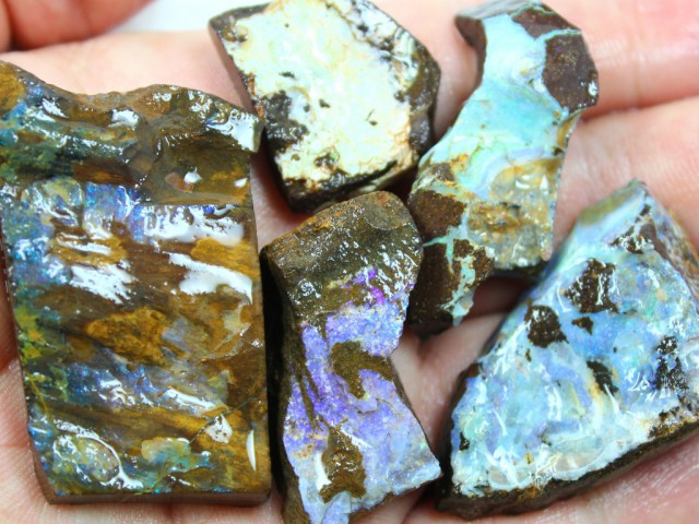 2.95 OZ 5 PCS BOULDER ROUGH-BLOCKED OUT OPAL MINIMAL WASTAGE
