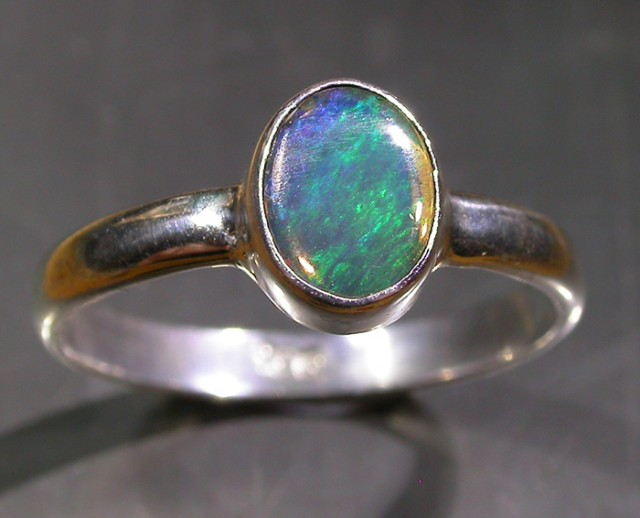 9.5 RING SIZE SOLID CRYSTAL OPAL -FACTORY DIRECT [SOJ3050]