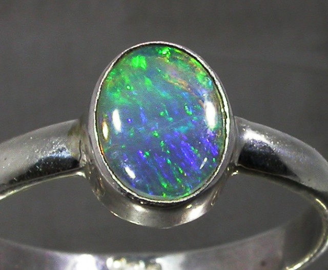 7.5 RING SIZE SOLID CRYSTAL OPAL -FACTORY DIRECT [SOJ3055]