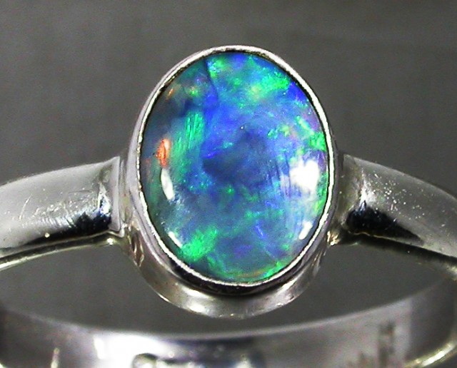 8 RING SIZE SOLID CRYSTAL OPAL -FACTORY DIRECT [SOJ3057]