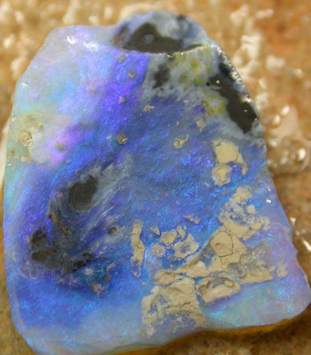 BLACK OPAL RUB BLUE BY SEDA OPALS 8.27 CTS [FR182]