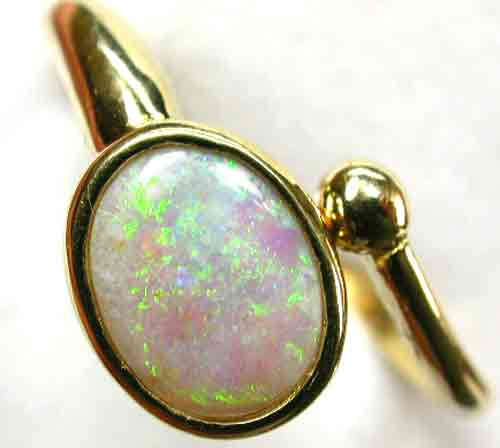 HANDCRAFTED GOLD 18 K OPAL  RINGJEWELLERY   [ JD 1 ] BY SEDA OPALS