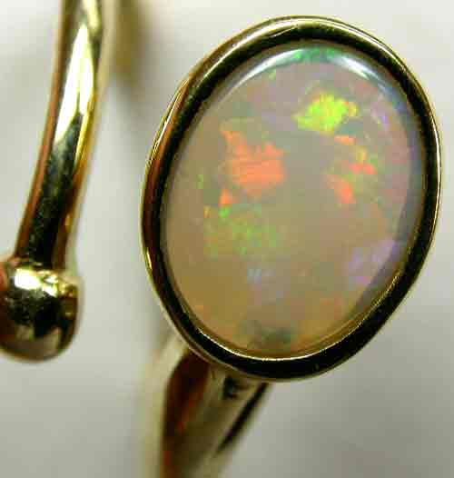HANDCRAFTED GOLD 18 K OPAL RING JEWELLERY  [ JD 6 ] BY SEDA OPALS