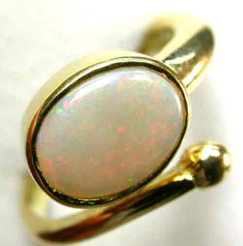 HANDCRAFTED GOLD 18 K OPAL JEWELLERY RING  [ JD 13 ] BY SEDA OPALS