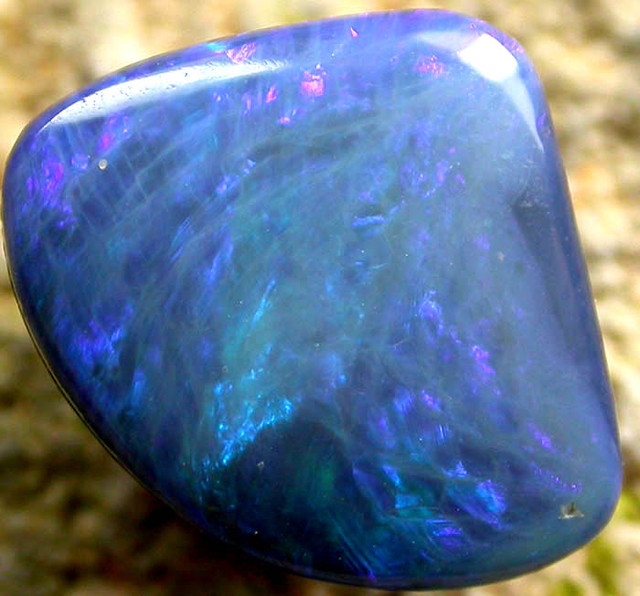 SEA BLUE LARGE OPAL COOBER PEDY DOUBLET   [ CD9 ] BY SEDA OPALS