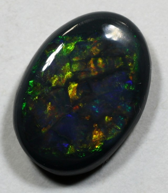 BEAUTIFUL Black Opal from LR - 2.155 cts RARE BLOCKY PATTERN