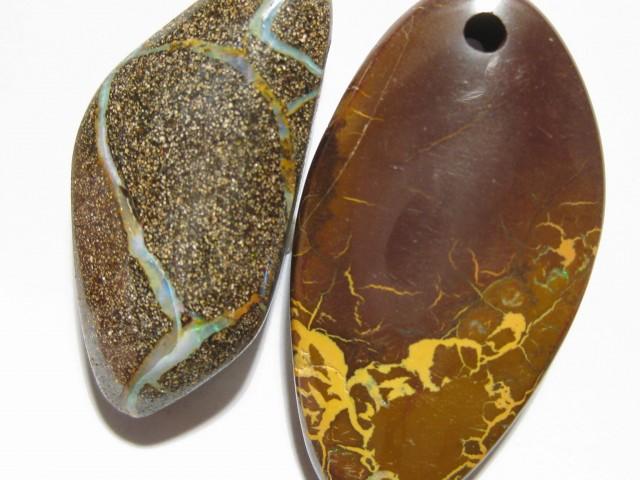 YOWAHOPALS* 93.05Ct- 1 Boulder & 1 Matrix = Opal SALE.
