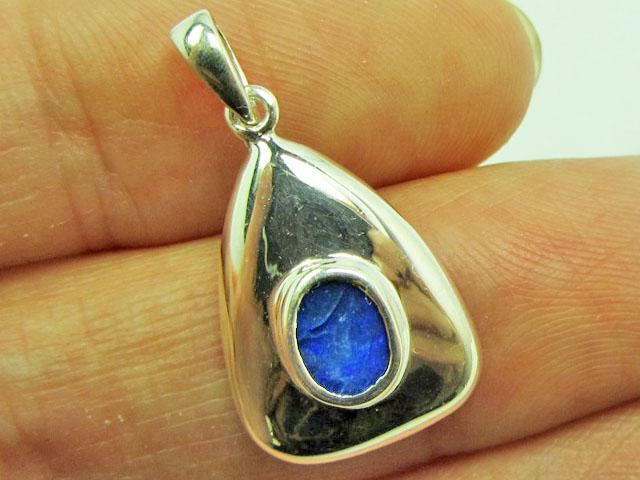 Doublet Opal set in Silver Pendant   PL 812