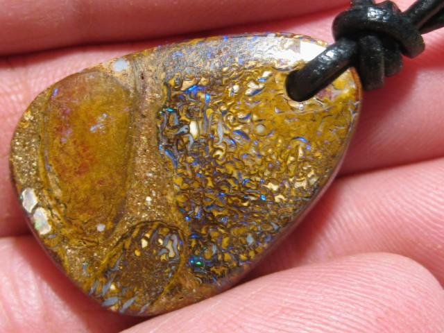 YowahOpals*34.80Cts-Boulder Matrix Opal - Pendant.