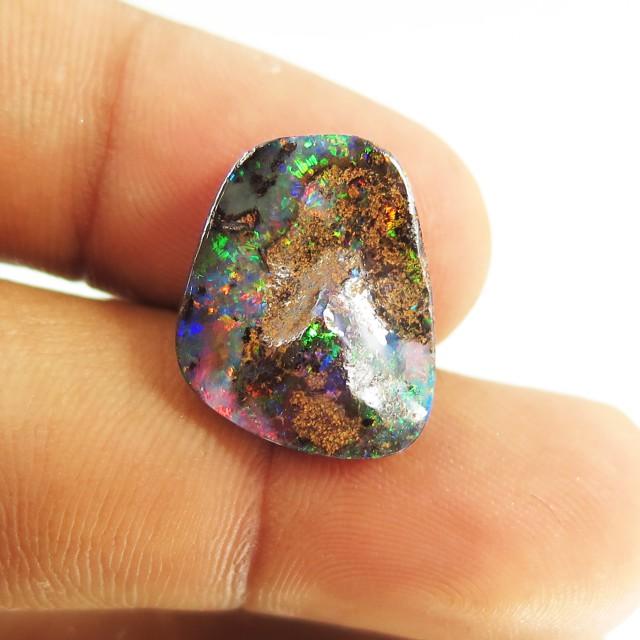 7.7ct Boulder Opal Multi Colour, Queensland, Australia ST03