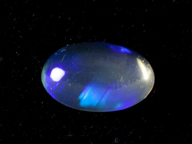 1ct Blue Mexican Fire Opal (MO52)