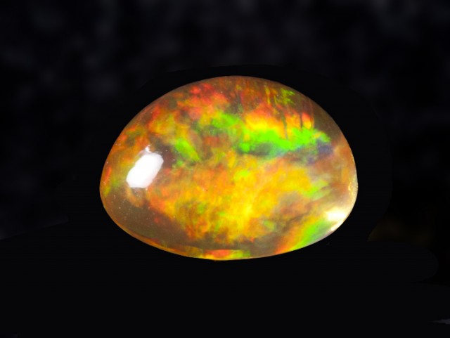 2.3ct Amazing Fiery Orange Mexican Opal (MO79)