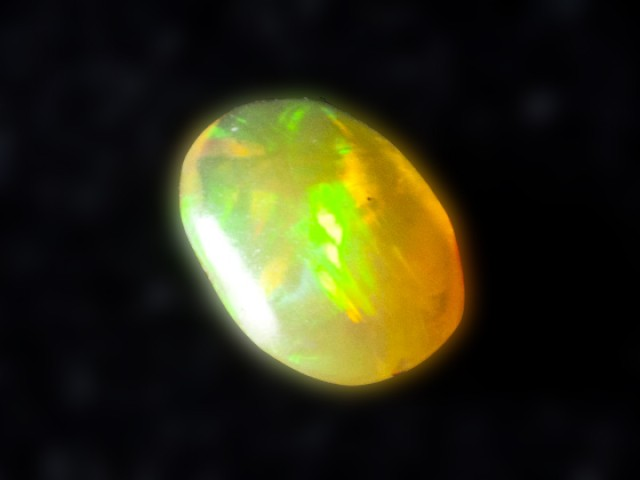 .4ct Freeform/Oval Orange Mexican Fire Opal (MO82)