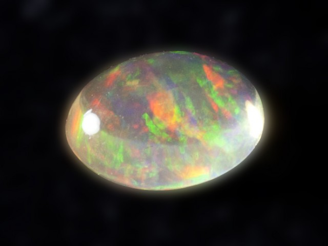 1.2ct Very Bright Rainbow Mexican Fire Opal (MO88)