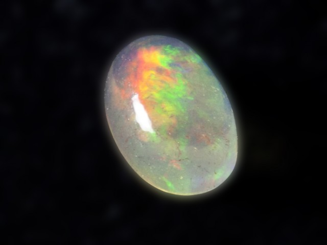 1.5ct Rainbow Mexican Fire Opal (MO89)