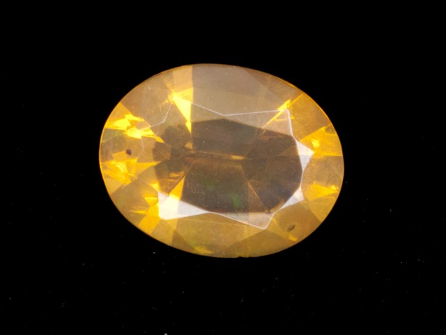 1.1ct Yellow/Orange Faceted Oval Mexican Jelly Opal (MO111)