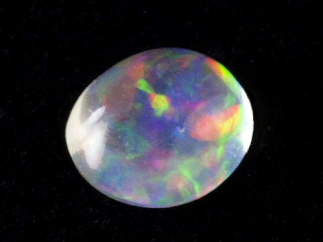 0.8ct  Colored Clear Mexican Fire Opal (MO140)