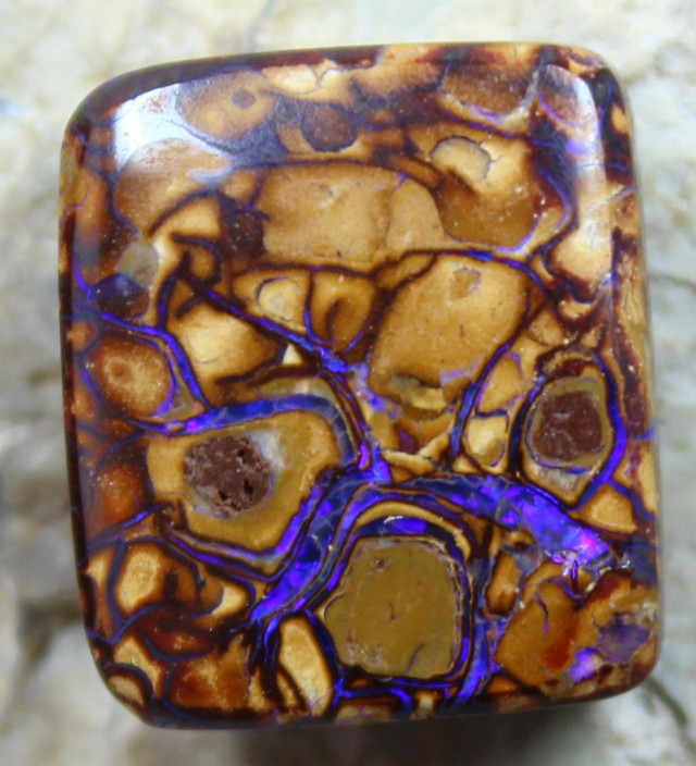 19.05 CTS TOP YOWAH OPAL POLISHED STONE GREAT PATTERN C3004