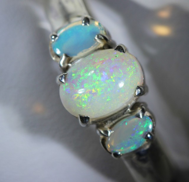 8 RING SIZE SOLID CRYSTAL OPAL -FACTORY DIRECT [SOJ3665  ]