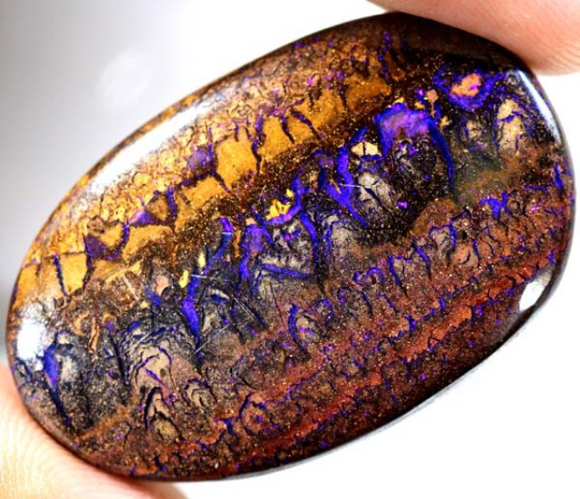 QUALITY YOWAH POLISHED OPAL NICE PATTERN *56.6* CTS   TO-175