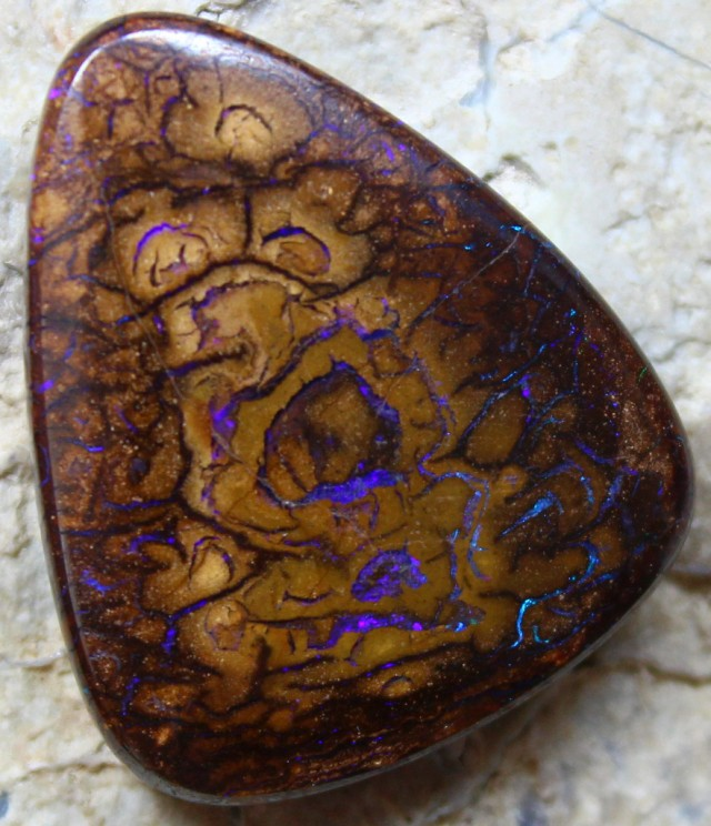 30.10 CTS YOWAH OPAL POLISHED NATURAL PATTERN STONE C3399