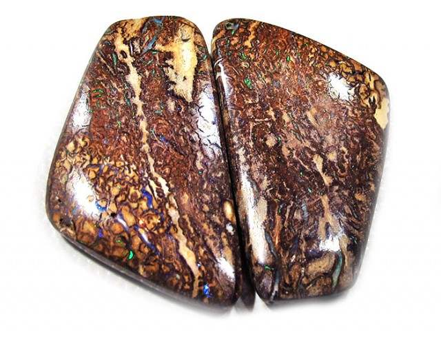 35.80 CTS YOWAH OPAL PAIR AUSSIE POLISHED [MS9866]